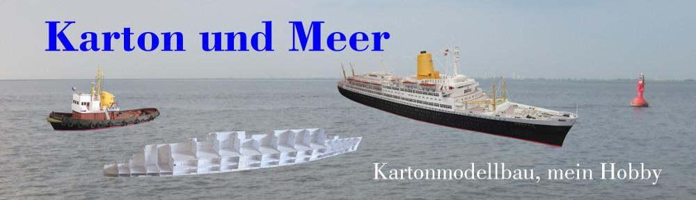 Karton und Meer
